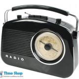 Radio retro AM/FM, antena telescopica, 230V negru, Konig HAV-TR700BL - Aparat radio