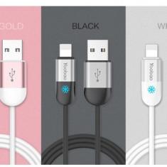 Cablu 8 Pin Lightning iPhone 5 5C 5S 6 6S 6/6S Plus YB-417 Gri Yoobao 1m - Cablu de date Yoobao, iPhone 6