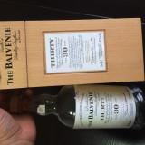 Cutie cu sticla originala de whisky Balvenie original 30 ani
