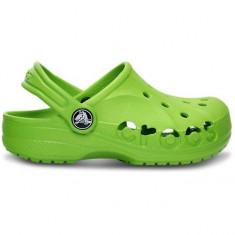 Saboti Crocs copii Baya Kids (Crc10190-395 ) - Papuci copii Crocs, Marime: 23.5, 25.5, Culoare: Verde