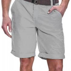 Pantaloni Scurti Barbati Sublevel Gri H7240Y60189AK Curea Inclusa - Bermude barbati sublevel, Marime: 29, Culoare: Din imagine