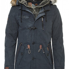 Geaca Lunga de Iarna Barbati Khujo Bleumarin Cree - Geaca barbati Khujo, Marime: XL, Culoare: Din imagine
