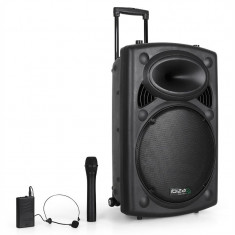 Sistem Audio Portabil Ibiza Port15 VHF-Bluetooth DVD USB SD - Echipament karaoke