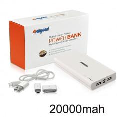 Baterie Externa Power Bank SUNYDEAL 20000mAh 5V 1A/2A cu led iluminare