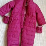 Combinezon bebe fas cu polarel pt iarna 18-23 L, Marime: M/L, Culoare: Fuchsia
