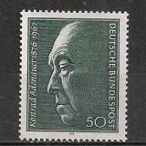 Germania.1976 100 ani nastere K.Adenauer-cancelar SG.344 - Timbre straine, Nestampilat