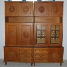 Biblioteca modulara, de sufragerie; Dulap cu raft; Comoda; Vitrina - Biblioteca living