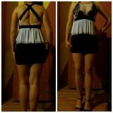Rochie alb-negru de vanzare - Rochie de seara, Marime: 38, Culoare: Din imagine