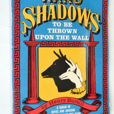 Hand Shadows - To be Thrown upon the wall - Umbrele mainii - Carte educativa