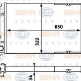 Radiator, racire motor VW CORRADO 2.9 VR6 - BEHR HELLA SERVICE 8MK 376 715-301