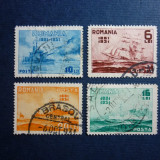 Romania, 1931 Semicentenarul marinei romane serie stampilata