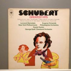SCHUBERT - GREATEST HITS cu L.BERNSTEIN/E.ORMANDY (1972/CBS REC/HOLLAND) - Vinil - Muzica Clasica Columbia