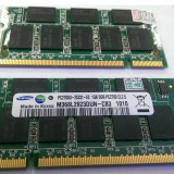 2 x 1GB DDR 1 SAMSUNG Memorie Laptop 333 PC2700  M368L2923DUN-CB3