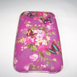 Husa silicon mov (Flower 1) pentru telefon Apple iPhone 3G/3
