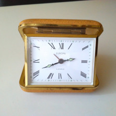 Ceas vechi de calatorie/ birou EUROPA, German. - Ceas de masa