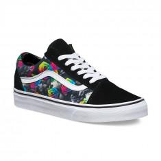 Shoes Vans Old Skool Rainbow Floral Black/True White, Marime: 40