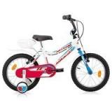 Bicicleta Copii, Robike, Robix, Roti 16 inch, Alb-Albastru Robike