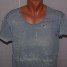 Tricou barbati DIESEL autentic marimea M / L worn in / distressed gri albastrui, Maneca scurta, Bumbac