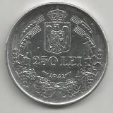 ROMANIA MIHAI I 250 LEI 1941, NSD ARGINT [2] LUCIU, XF++ a UNC - Moneda Romania