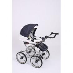Carucior 2 in 1 Whicker Classic Color 4 Baby-Merc - Carucior copii 2 in 1 Baby-Merc, Alb