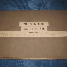 Harta militara panzata de front Austria zona Murzzuschlag, primul razboi.