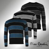 Oferta speciala! Bluza Pulover Barbati Pierre Cardin Paris Big Stripe original