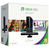 Consola Xbox360 4Gb Cu Kinect Sensor Plus Kinect Adventures Si Kinect Sport Ultimate Collection Plus 1 Luna Xbox Live Gold