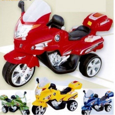 Motocicleta electrica cu acumulator 6V marime mare (5-8 ani) - Masinuta electrica copii, Unisex