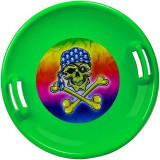 Sanie Disc, Marmat, Verde, Plastic, Diametru 60 cm Marmat