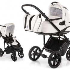 Carucior copii 2 in 1 cu landou Knorr-Baby Volkswagen Carbon Optik White
