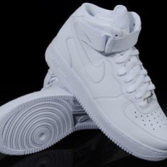 Ghete Nike Air Force One unisex - Adidasi barbati, Marime: 36, 37, 38, 39, 43, 44, Culoare: Alb, Piele sintetica