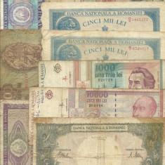 Romania Lot 9 Bancnote vechi, uzate 1941-1994