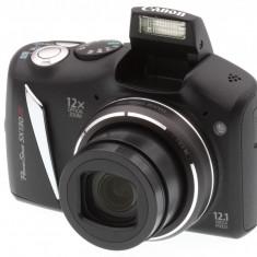 Canon PowerShot SX130 IS Camera Foto + husa + incarcator + acumulatori - Aparat Foto compact Canon, Compact, 12 Mpx, 12x, 3.0 inch