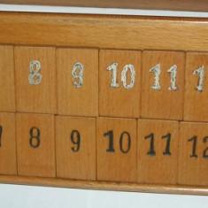 Rummy (remi) lemn masiv, manufactura 100 %, vintage, circa 1941, raritate! - Jocuri Board games