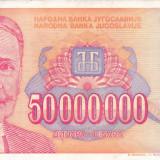 IUGOSLAVIA 50.000.000 dinara 1993 VF+++!!! - bancnota europa