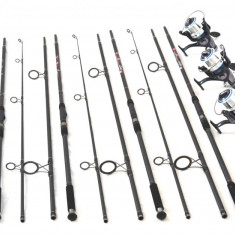 Kit 4 Lansete Crap 3.6m Cu Mulinete Ultra Long Cast - Lanseta, Numar elemente: 3