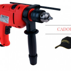 Masina de gaurit cu percutie 13 mm x 760 W Raider Power Tools RD-ID02 + CADOU: Sapca Topmaster
