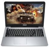 Notebook Asus A555LF, 15.6 inch, procesor Intel Core i3-5005U, 2 Ghz, 4 GB RAM, 1 TB HDD, Free DOS, video dedicat, negru