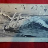 Ilustrata comica - La Scaldat, inc.sec.XX -Litografie - Carte postala tematica, Necirculata, Printata