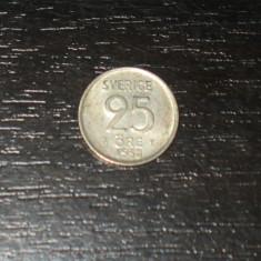 Moneda argint 25 ore Suedia 1958, Europa