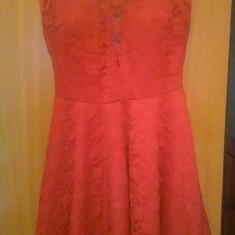 Rochie roșie din dantelă, Marime: XL, Culoare: Rosu