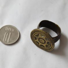 Inel medieval de bronz - Inel barbati