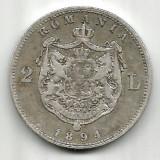 ROMANIA 2 LEI 1894 STARE FOARTE FOARTE BUNA - Moneda Romania