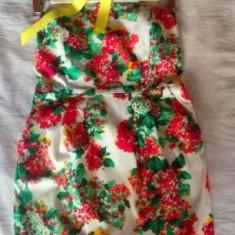 Rochie noua ZARA, model floral - Rochie de zi Zara, Marime: S/M, Culoare: Din imagine