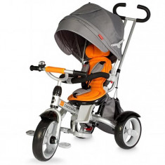 Tricicleta Coccolle Giro Multifunctionala Portocaliu - Tricicleta copii
