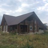 Vand casa din lemn rotund demontabila, pret negociabil - Casa de vanzare, 250 mp, Numar camere: 7